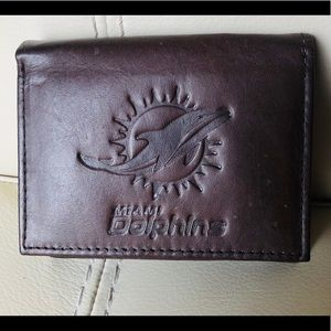 Miami Dolphins Vintage Leather Embossed Wallet
